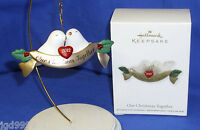 Hallmark Christmas Ornament Our Christmas Together 2012 Doves Lovebirds Love