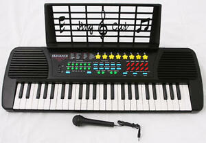 BLACK-Children-Electronic-Piano-Music-Kid-Keyboard-Mic