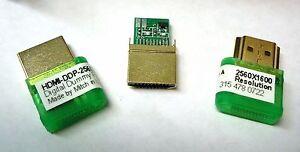 0shipUSA-HDMI-EDID-2560x1600-DDC-Plug-Headless-Windows-Mac-Linux-emulator-dummy
