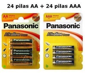 7ef0864ed PILAS ALCALINAS 48 PANASONIC 24 AA LR06 Y 24AAA LR03 BATERIAS PILA ...