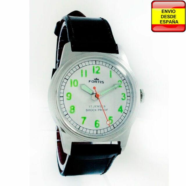 292efd0b7102 Reloj Fortis cuerda manual 17 Jewel verde Vintage