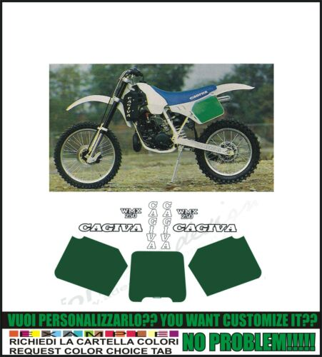 kit adesivi stickers compatibili  wmx 250 1988