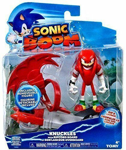 Tomy Sonic Boom Feature Action Figure Knuckles With Ripcord Board For Sale Online