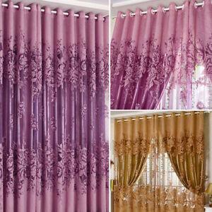 Image Is Loading Floral Door Window Curtain Drape Panel Sheers Scarf