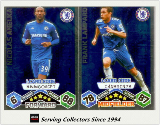 2009-10 Match Attax Card Game I-Card Foil CHELSEA Lampard / Anelka (2)