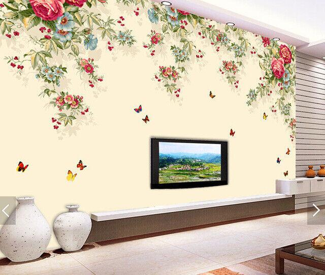 3D Kunst Blumen Blätter6 Tapete Tapeten Mauer Foto Familie Tapete Wandgemälde DE