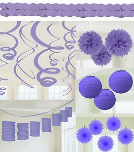 Details Zu Lila Lavendel Geburtstag Party Deko Laterne Facher Girlande Hochzeit Dekoration
