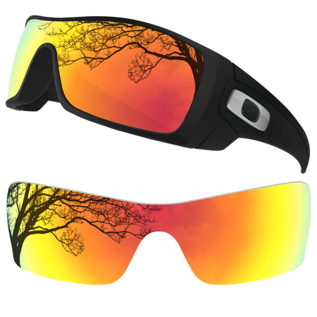 07e1b3be87faf DYNAMIX Polarized Fire Red Replacement Lenses for Oakley Batwolf Sunglasses