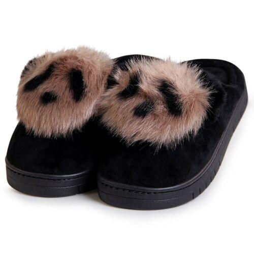 Damen Plateau Pantoffeln Hausschuhe Pantoletten Slipper Loafer Bunny