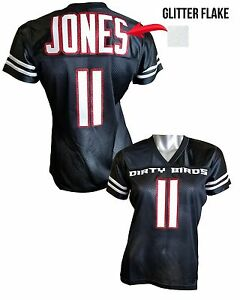 best loved 9c965 771b7 Details about Custom Womens Blinged Football Black Jersey,Dirty Birds,  Julio Jones
