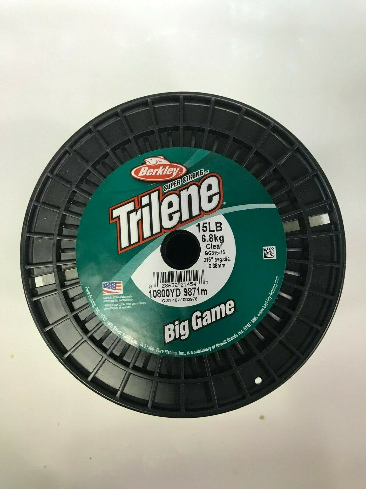 Trilene Big Game 15lb Test 3lb Spool Clear (BG315-15)