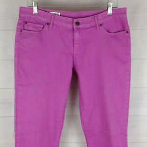 GAP-1969-womens-size-10-x-L28-stretch-solid-lilac-mid-rise-always-skinny-jeans