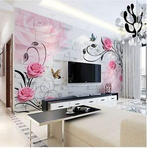 3d wallpaper bedroom mural roll modern luxury rose flower for 3d rose wallpaper for bedroom