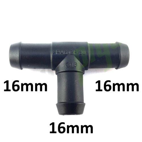 T-Stück mit Widerhaken 20 zu 16 mm Rohr Schlauch Anschluss Fassung Joiner Luft