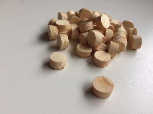 Cross grain conique Bois Pin Bouchons 50 bois de PIN CONNECTEURS 12 mm