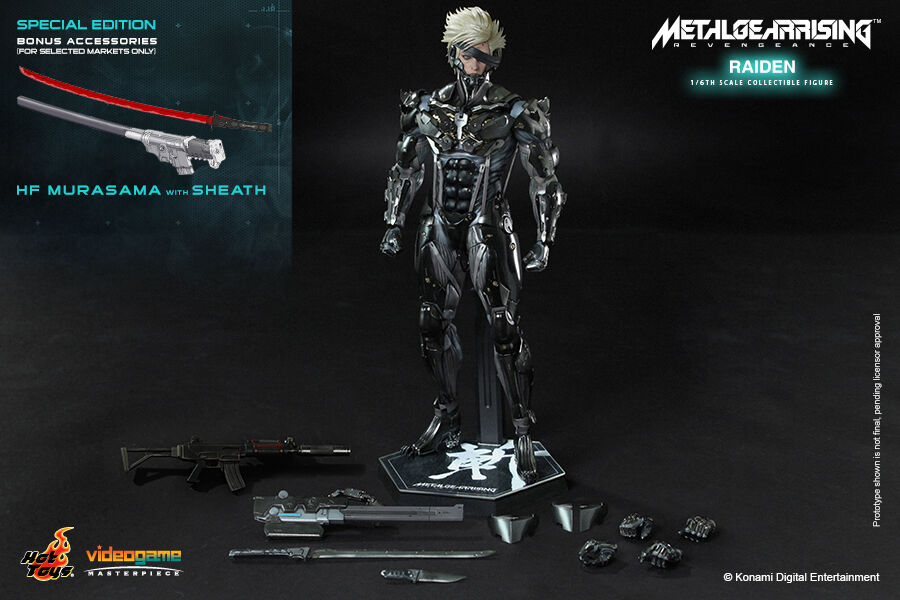 HOT TOYS VGM17 Metal Gear Rising  Revengeance Raiden 1 6 Figure Special Edition