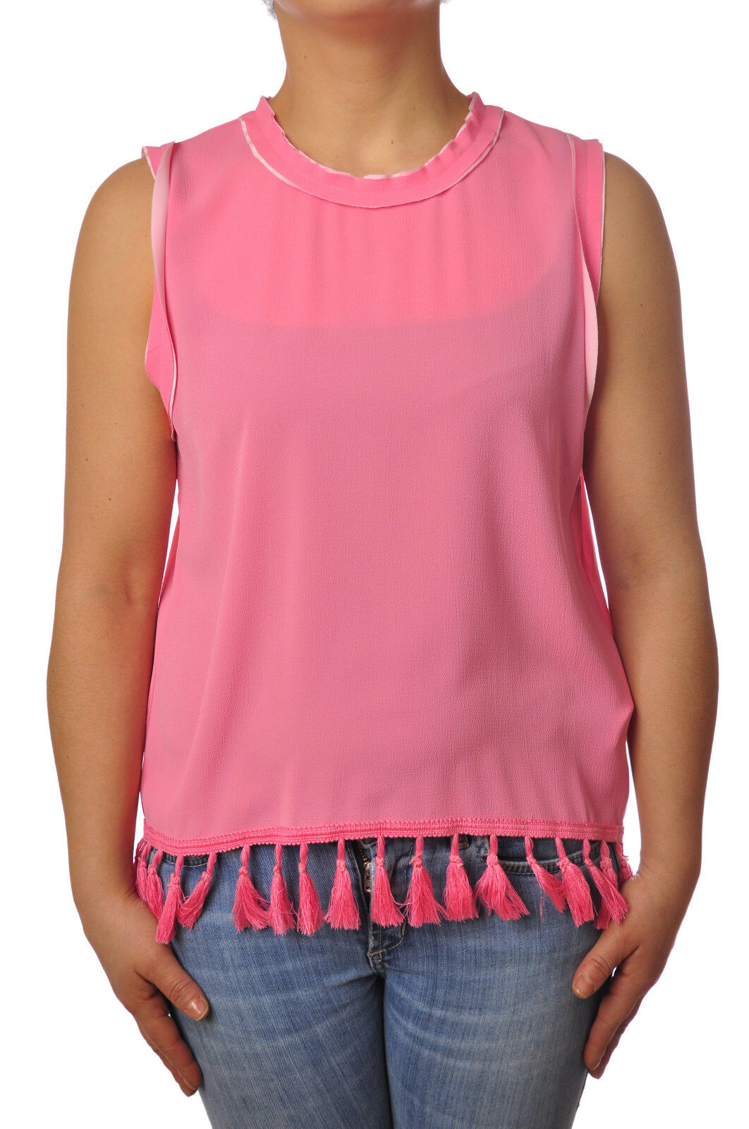 Traffic People - Topwear-Sleeveless Top - Woman - Rosa - 5110616C184321
