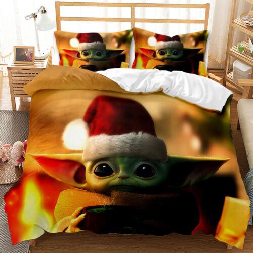 Star Wars Baby Yoda Bettwäsche Set Kissenbezug Bettbezug 2teilig 80x80 135x200