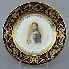 Teller mit Portrait des Napoleon Bonaparte, Thüringen oder Böhmen um 1900