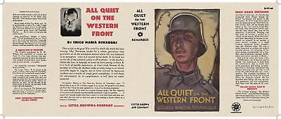 2019 Mode Facsimile Dust Jacket Only Erich Maria Remarque All Quiet On The Western Front Voor Snelle Verzending