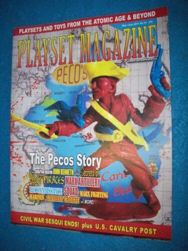 Playset Magazine #81 Pecos figures-Pirates+ Gold Marx 6 Marines and playsets