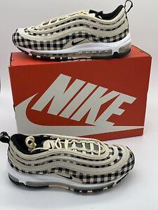 Details about Nike Air Max 97 Premium Light Cream Black Sail Plaid Flannel 312834 201 Size 10