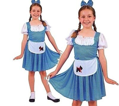 Country Girl Childs Fancy Dress Dorothy Kids World Book Day Costume Outfit New