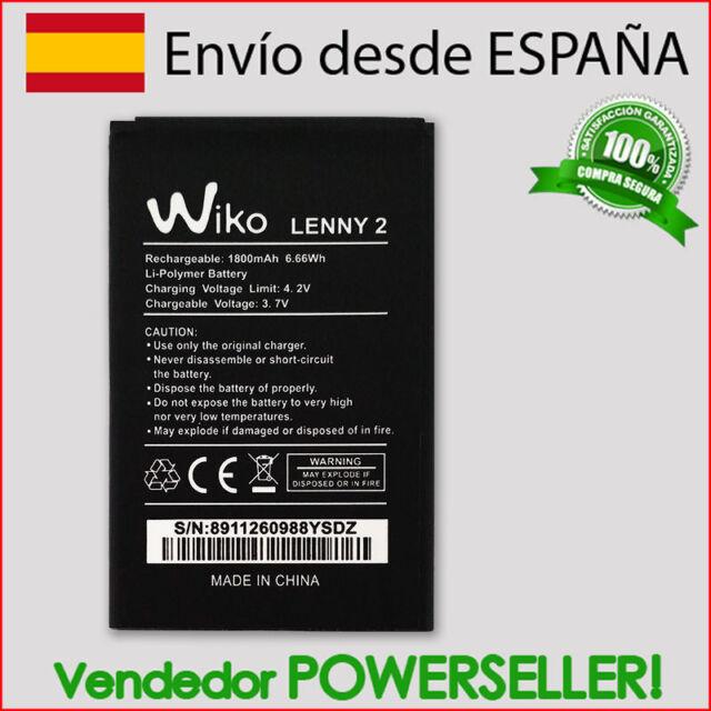 Batería para Wiko Lenny 2 | 1800mAh | NUEVA DESDE ESPAÑA