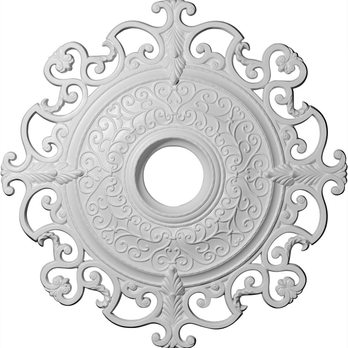 38 3 8 OD x 6 1 4 ID x 2 7 8 P Ceiling Medallion (Fits Canopies up to 8 1 4 )