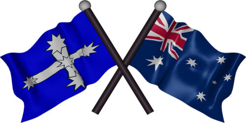 AUSTRALIA EUREKA FLAGS VINYL DECAL 1200MM BY 600MM apr. GLOSS LAMINATED