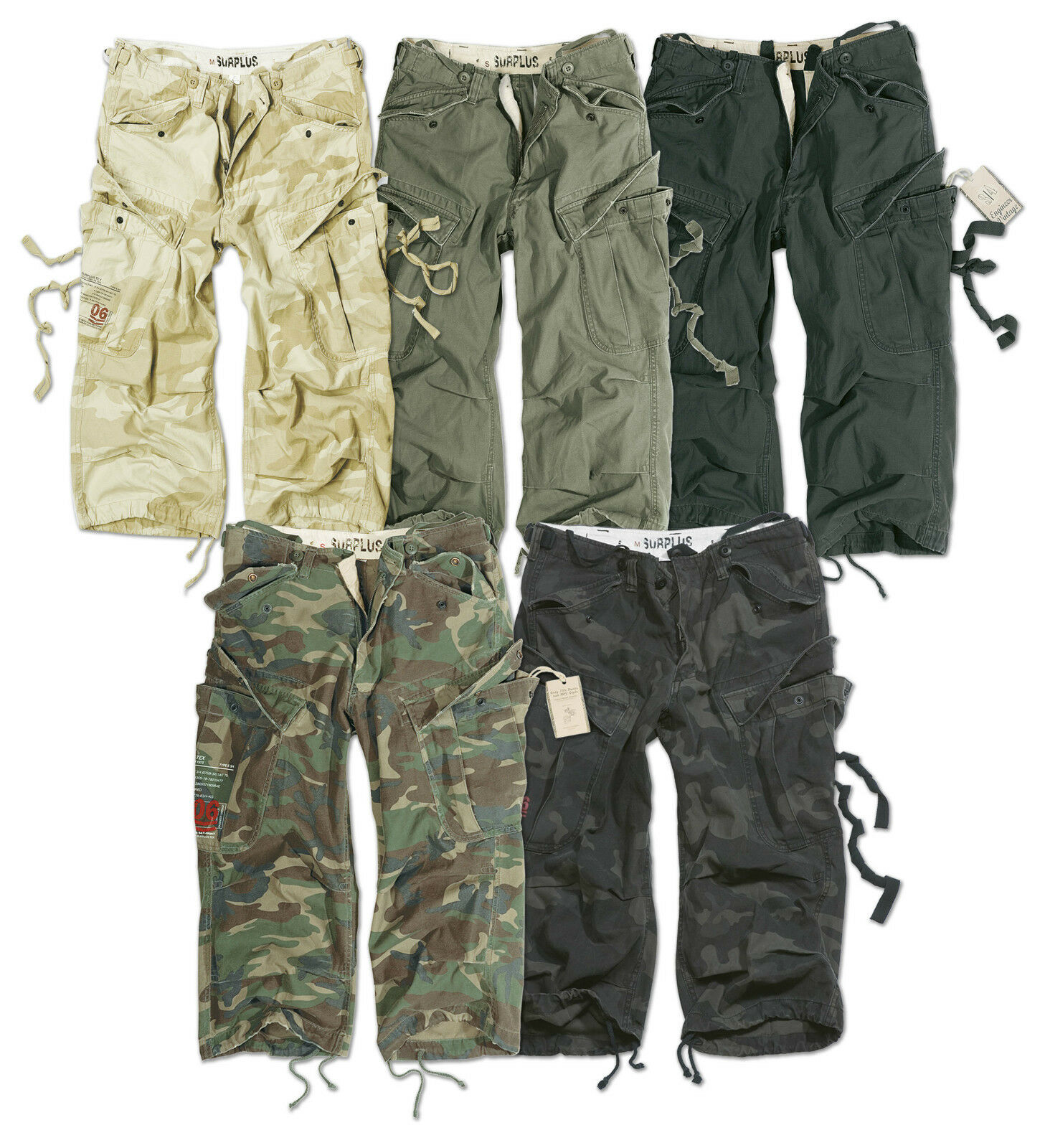 SURPLUS ARMY MENS ENGINEER 3 4  CARGO PANTS BELOW KNEE ARMY COMBAT LONG SHORTS  online store