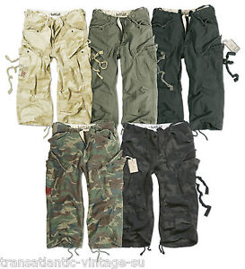 SURPLUS-ARMY-MENS-ENGINEER-3-4-CARGO-PANTS-BELOW-KNEE-ARMY-COMBAT-LONG-SHORTS