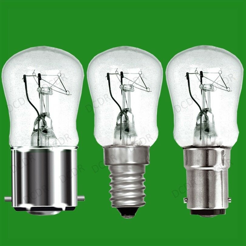 100x 15W Dimmable Clear Pygmy Light Bulbs, BC, B22, SBC, B15d or SES, E14 Lamps