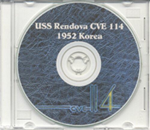 USS Rendova CVE 114 Korea CRUISE BOOK Log 1952 CD