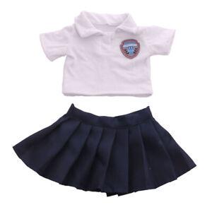 Lovely-Handmade-Mini-Doll-Clothes-Set-18-039-039-Girl-Doll-School-Uniform-Outfits