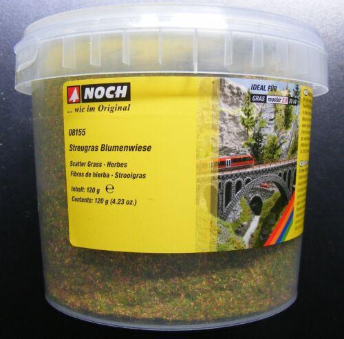 2,5 mm lang Neu 7,91€//100g NOCH 08155 Streugras Blumenwiese 120g Dose