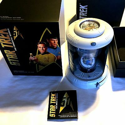 2016 Star Trek 50th Anniversary Captain Kirk and Mr Spock 1oz Silver Proof Coin