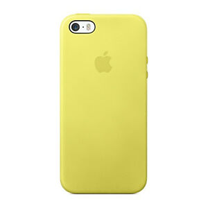 apple leather case iphone 5s 5 yellow mf043ll a ebay