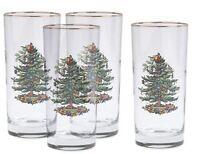 Spode Christmas Tree Hiball Glasses, Set Of 4, New, Free Shipping on Sale