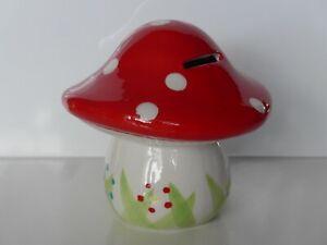 Spardose-Fliegenpilz-XL-Keramik-Hochglanz-Sparbuechse-Deko-Geld-Bank-Geschenk