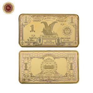 WR-1899-1-Silver-Certificate-Black-Eagle-Dollar-US-Gold-Bar-Note-Ingot-Collect