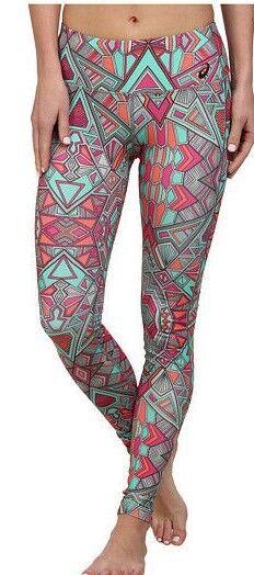 Gehorsam Asics Cleopop Barre Damen Polyester Stretch-strumpfhose Größe L Tribal Aufdruck Angenehm Im Nachgeschmack