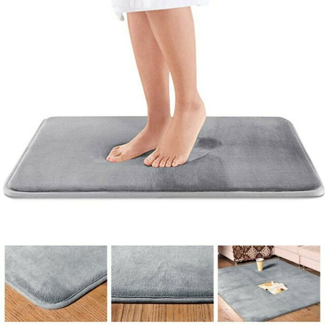 Soft Memory Foam Bath Bathroom Rug Bedroom Shower Kitchen Floor Mat Non-slip
