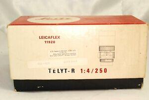 Leica-Leitz-Leicaflex-Telyt-R-F4-250-Empty-Lens-Box-Vintage-5311040-11920