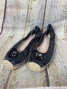 Simply-Vera-Wang-Women-s-Sz-9-Honey-Crisp-Flats-Espadrilles-Jeweled-Embellished