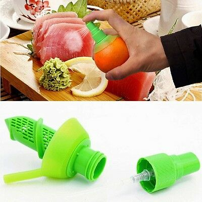 2 Pcs Lemon Juice Sprayer Citrus Fruit Juicer Mini Squeezer Kitchen Presses Tool