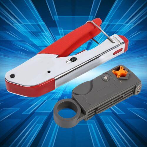20 pcs//set Coax Cable Crimper Coaxial Compression Tool Kit for RG59 RG6 F Conne