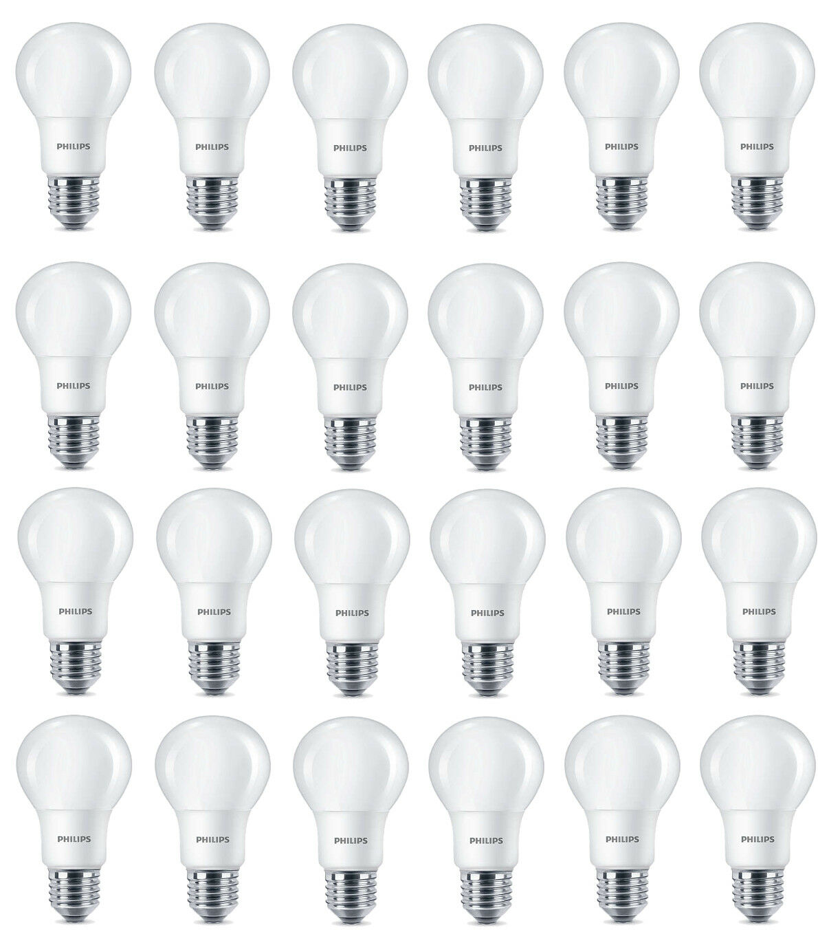 24 x Philips LED Frosted e27 edison screw 40w cálido blancoo light bulbs lamp 470lm