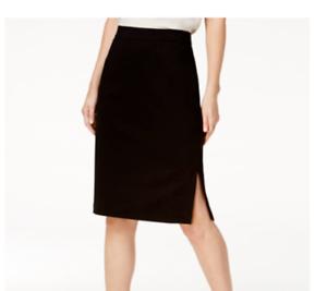 NEW Eileen Fisher Tencel Blend Pencil Skirt in Black Size S  #SK6