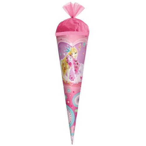 Roth Schultüte 50cm rund Einhornglück Einhorn Pink Zuckertüte Schulanfang Tüll